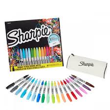 Sharpie <b>Markers</b> Limited Edition 18 Set With Free <b>Pencil Case</b>