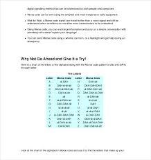 Voice Chart Pdf 5 Morse Code Chart Templates Doc Pdf Excel Free