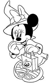 Small Picture Disney Halloween Minnie Coloring Sheet for Kids Picture 7 550x938