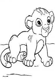 Small Picture Baby Lion Cub Coloring Pages For Kids Printable 139274 Baby Lion