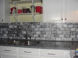 Kitchen Backsplash Tin Kitchen Grey Backsplash Peel And Stick Glass Tile Backsplash