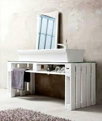 pallet ideas for bathroom. custom pallet white painted sink ideas for bathroom