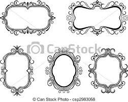 antique picture frames vector. Vintage Frames - Csp2983058 Antique Picture Vector F