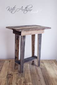 reclaimed wood  side table by katearthur on deviantart