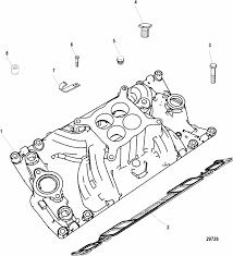 mercruiser 350 4 barrel gen crate engine intake manifold parts engine section