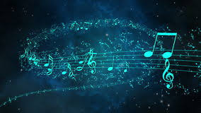 Animated Background With Musical Notes Music Notes Loop Stock