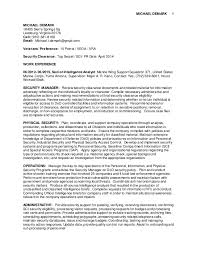 Resume Security Clearance Example Best Of Michael DeMark Federal Resume