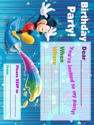 mickey mouse printable birthday invitations gangcraft net best photos of birthday card blank template birthday card birthday invitations