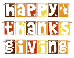 another cute thanksgiving banner printable along clipart