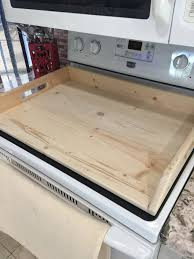 primitive stove top cover wooden noodle board serving tray dough board great for extra space not painted for diy