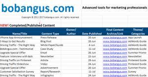 Free Editorial Calendar Template | Bobangus.com