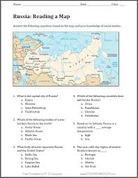 Russia - Free Printable Map Worksheet | Student Handouts
