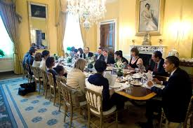 Family Dining Room U S President Barack Obama And Michelle Obama Host Passover Seder