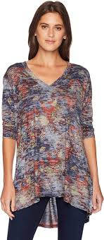 Nally And Millie Size Chart Nally Millie Womens V Neck Burnout Floral Print Top Multi