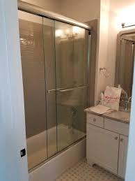 frameless sliding shower doors by century glass of frameless sliding shower doors by century glass of