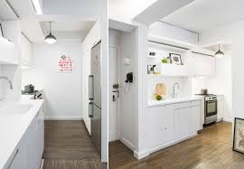 Micro Kitchen 390 Square Foot Micro Apartment With Multifunctional Sliding Wall
