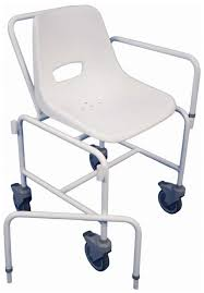 charing attendant propelled disabled shower chair