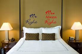 Small Picture JC Design Mr Right and Mrs Always Right Funny Wall Stickers