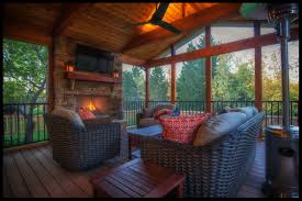 screened in porch with fireplace. Screen Porch Builder Leawood KS Screened In With Fireplace L