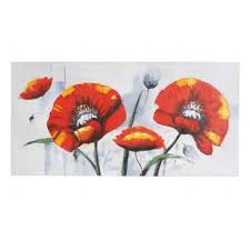 red poppies wall art on canvas on poppy wall art uk with red poppy wall art wayfair uk