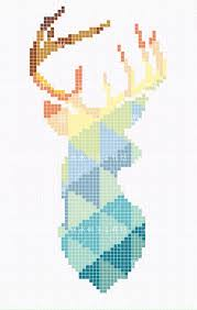 Perler Bead Pattern Custom Deer Perler Bead Pattern Crosstitch Pinte