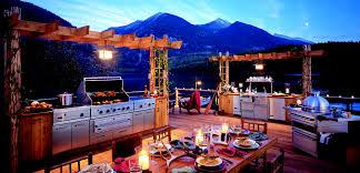 viking outdoor kitchen setup with refreshment station