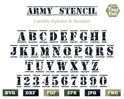 Stencil Fonts Top 10 Military Fonts 2019 Army Navy Stencil
