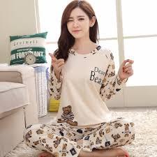 Wholesale <b>Pajamas Sets Spring Autumn</b> Thin Carton Women Long ...