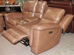 light brown leather power motion group loveseat