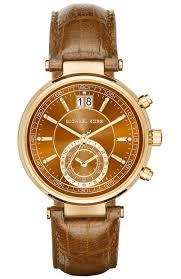 las watch michael kors sawyer gold brown leather chronograph mk2424 e oro gr michael kors watches