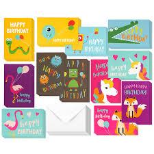 Birthday Cards Design For Kids Amazon Com Best Paper Greetings Birthday Card 48 Pack Birthday