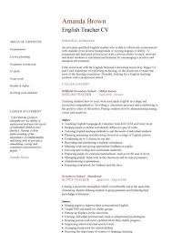 Cover letter for language teacher sample   Fast Online Help VisualCV Curriculum Vitae Example Internship Curriculum Vitae    Personal  Information Curriculum Vitae English