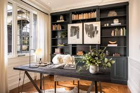 Image Office Elegant Home Office Includes Charred Wood Writing Desk Hgtvcom How To Create Stylish And Organized Desk Space Hgtvs Decorating