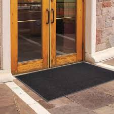 black charcoal 3x5 indoor outdoor commercial floor mat recycled rubber entry rug