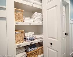 Linen Closet Design Plans How To Completely Organize Your Linen Closet The Happy Housie