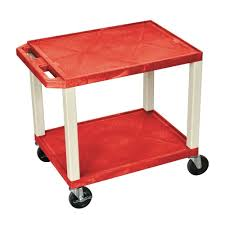 rolling carts for office. Red Shelves Nickel Legs Teachers Rolling Cart Office Storage Multipurpose Carts For