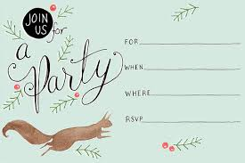 Printable Holiday Party Invitations Julianna Swaney Illustration Printable Holiday Party Invitations