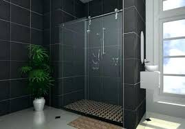 showers black tile shower magnificent gallery the best bathroom ideas stall floor