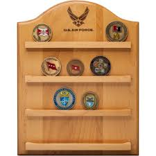 mi engraving air force wall mounted coin holder