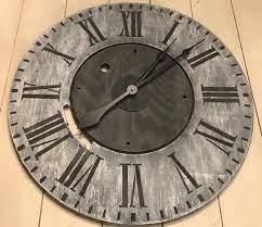 oversized wall clock rustic clock