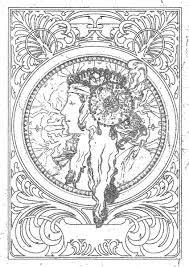 アルフォンスミュシャ Alphonse Mucha 塗り絵 Coloring ぬりえ