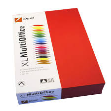 Red Colour Chart Paper Quill Coloured Paper 80gsm A4 Red 500 Sheet Ream