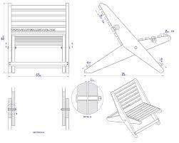 garden folding chair plan assembly 2d drawing