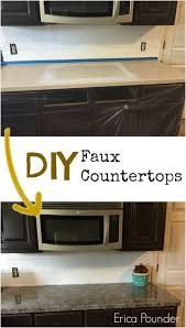 Find out how to give your kitchen counters the faux granite effect here!