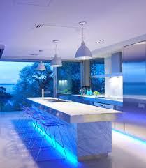 kitchen led lighting ideas. Chris-lee-homes-blue-kitchen-LED-lighting Kitchen Led Lighting Ideas S