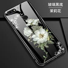 Generic For OPPO F9 <b>Luxury</b> Tempered Glass Case Flower <b>Bling</b> ...