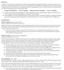 Sample Resume For School Counselor Career Counseling Resumes School Counselor Resume Spacesheep Co