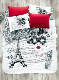 parisian duvet covers cotton the mask single twin size duvet cover set theme bedding linens themed