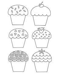 Small Picture Six Tasty Cupcake Coloring Page NetArt