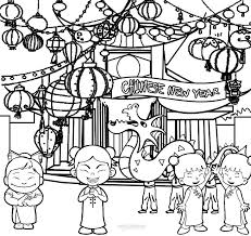 Small Picture Coloring Page Chinese New Year Coloring Pages Coloring Page and